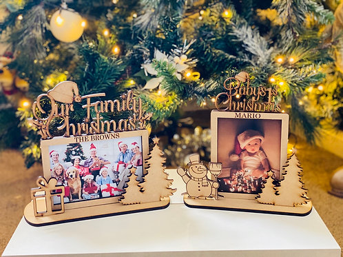 Christmas Family 3D frames - laser cut