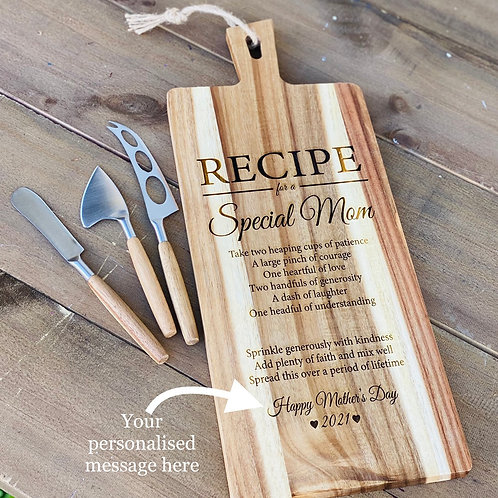 Wooden Copping Board with Knives set