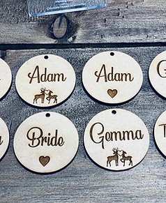 Laser cut engraved tags MIN order 10 Tags