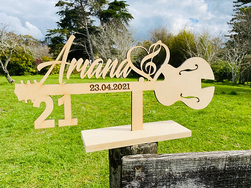 Wooden 21st Keys RAW mdf or colour
