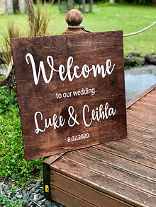 Custom Made Stained Welcome sign