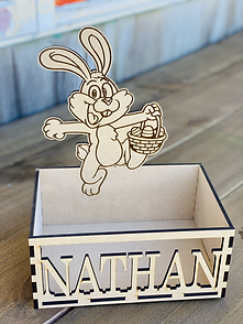 Bunny Crate with laser cut Name