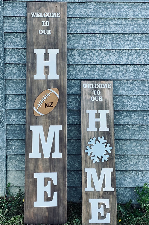welcome to our home- with interchangeable pieces
