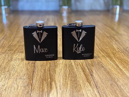 Custom Made Hip Flask - Black