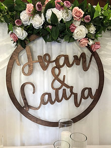 Colored Custom made Hoop Sign 60cm, 75cm,90cm