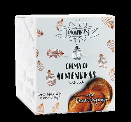 Caja x 12 Sobres de Crema de Almendra con Panela Orgánica