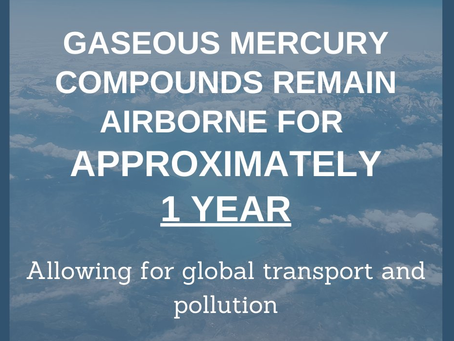 Mercury has an atmospheric lifetime of around a year University of Oxford earth scientists report.