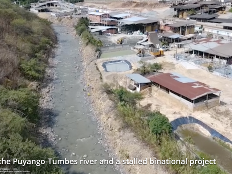 ECUADOR TAILINGS DISCHARGE POLLUTES THE CALERA RIVER WATERS - IN PERU THE CONSEQUENCES ARE SUFFERING