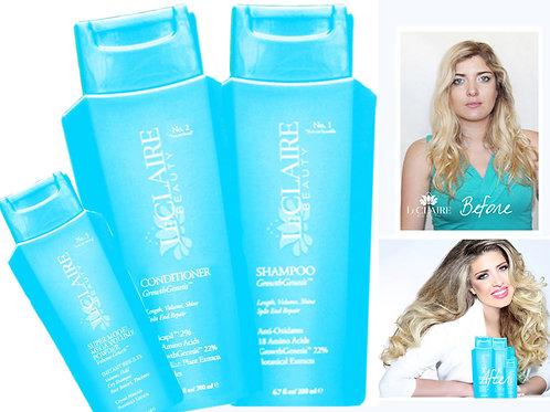 Growth Genesis Hair Repair 3 pc Kit: Growth CONDITIONER, SHAMPOO, VOLUME POWDER