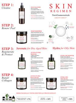 Skin Regimen Steps Sheet by Victoria