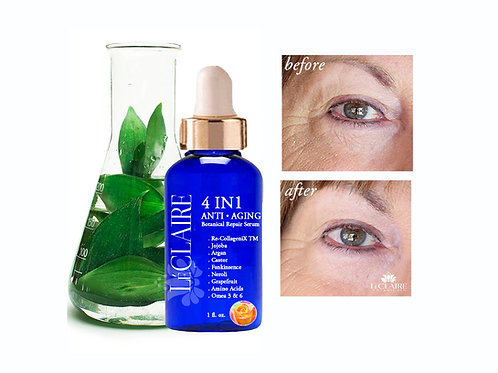 4 in 1 Botanical Anti Aging Serum- 100% Plant oils and Essential oils