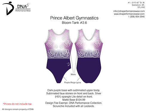 Prince Albert Gymnastics- Bloom Tank #2.6