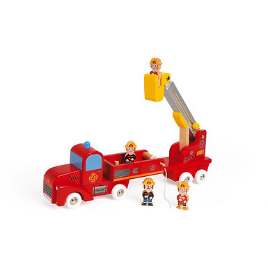Janod Story Giant Firefighters Truck