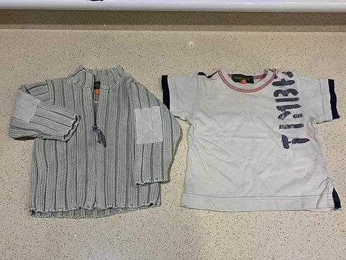 6m Timberland Zip Up & Timberland Tshirt