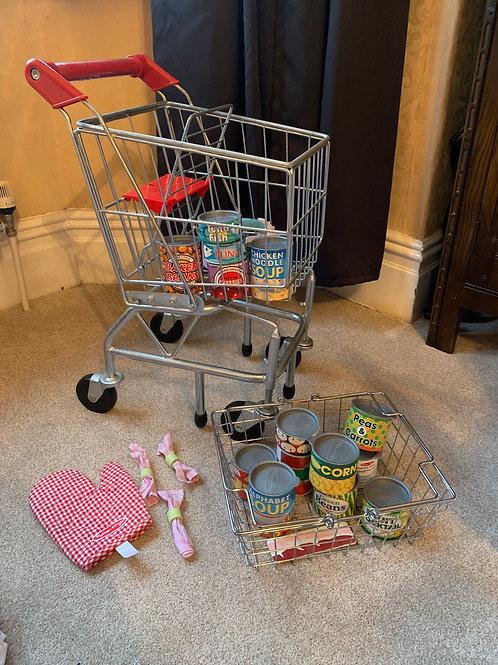 Melissa & Doug Trolley, Food & Shopping Basket