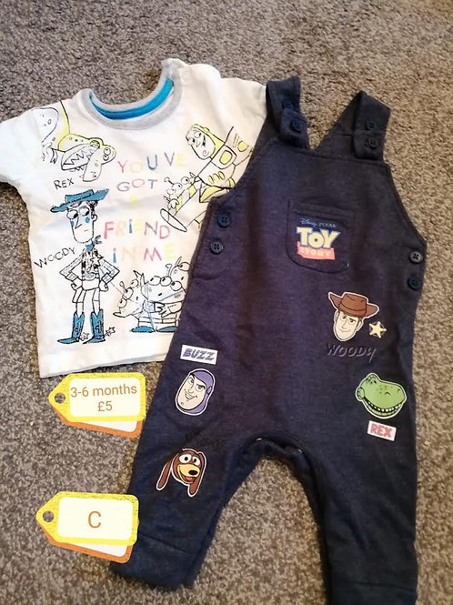 Toy Story Dungarees 3-6m
