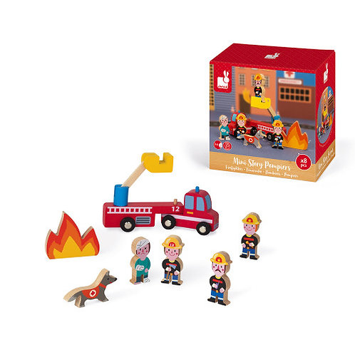 MINI STORY FIREFIGHTERS (WOOD)