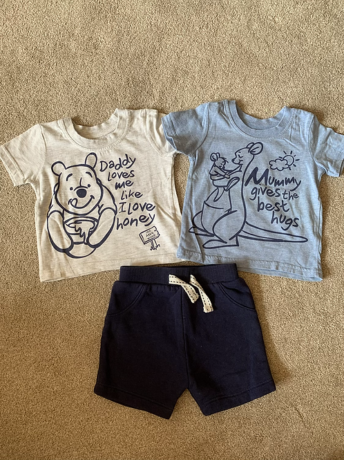 0-3m Winnie the Pooh Tops and Shorts