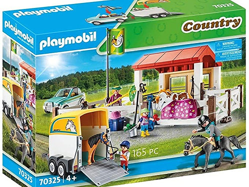 Playmobil Horse Stable with Trailer 70325
