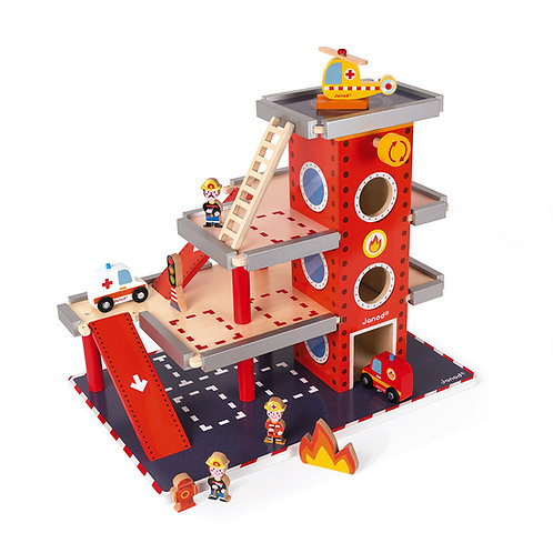 Janod Wooden Fire Station