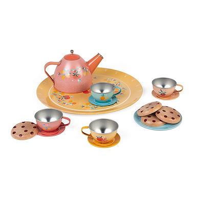 METAL TEA SET DINNERWARE
