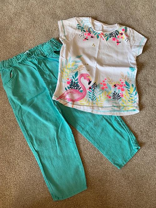 4-5y Top & Linen Trousers