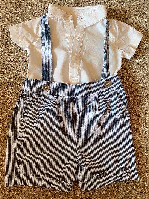 6-9m Striped Shorts Set