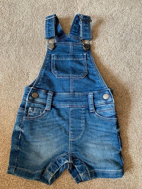 6-9m M&S Dungaree Shorts