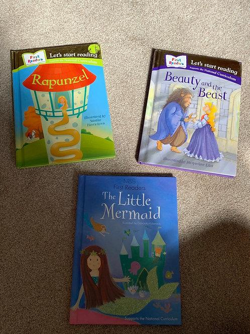 Early Reader Fairytale Books x3