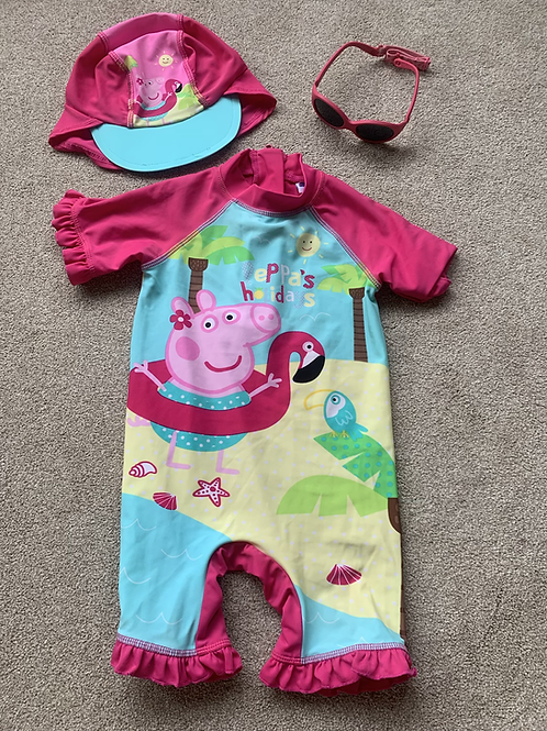 12-18m Peppa Pig Swim Set with Sunglasses
