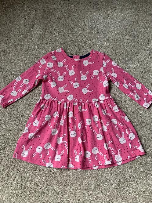 3-6m Mothercare Pink Rabbit Dress