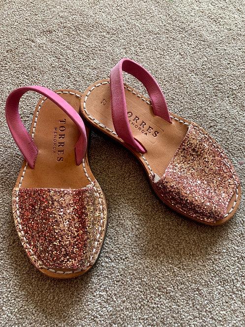 Size 27 Pink Glitter Sandals