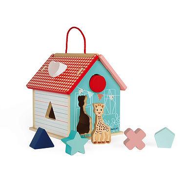 SOPHIE LA GIRAFE SHAPE SORTING HOUSE (WOOD)