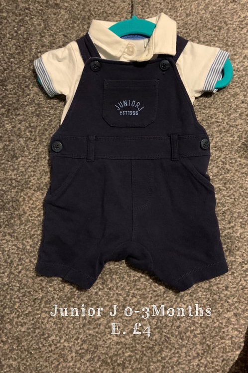 0-3m Junior J Outfit