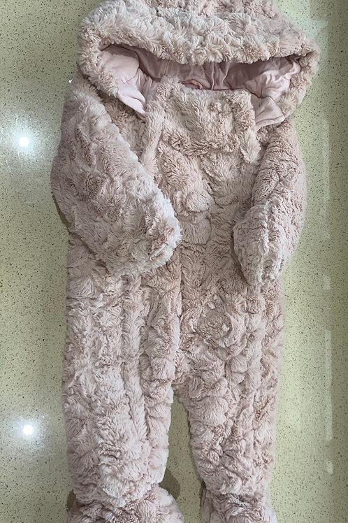6-9m George Pale Pink Faux Fur Snowsuit