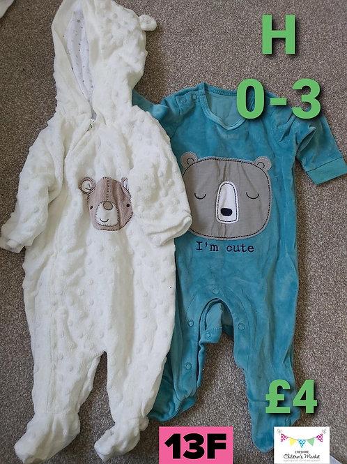 Pram Suit & Sleep Suit 0-3m
