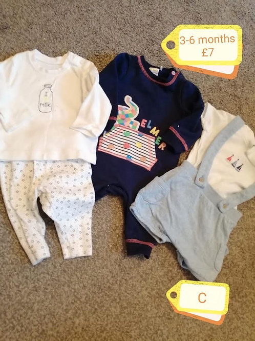 Outfits x3 3-6m