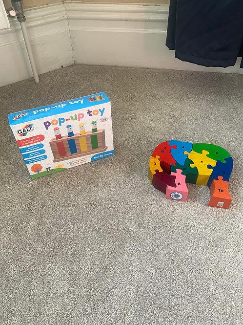 Pop Up Toy (Brand New) & Elephant Puzzle