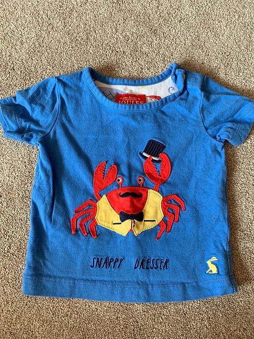 0-3m Joules Crab Top