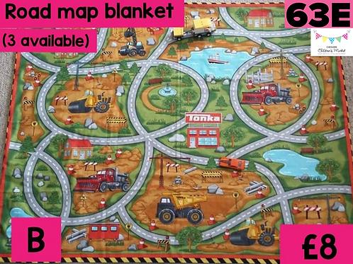 Road Map Blanket