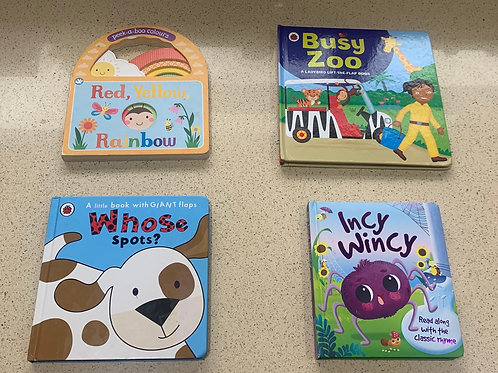 Four Baby Board/Flap Books