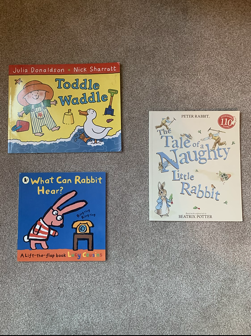 Toddle Waddle, The Naughty Little Rabbit & What Can Rabbit Hear