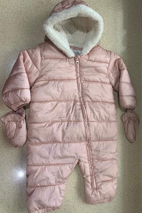 12-18m M&S Snowsuit with Detachable Mittens