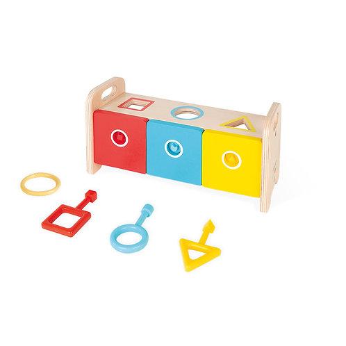 Janod Shape Sorter Box With Keys