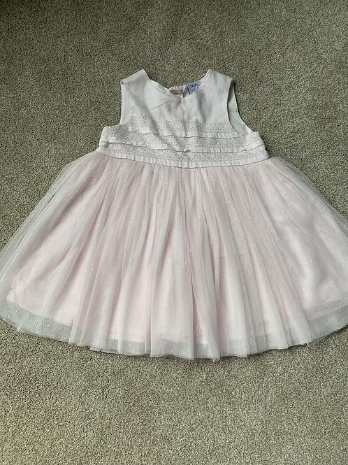 3-6m Mini Club Pink Tulle Dress
