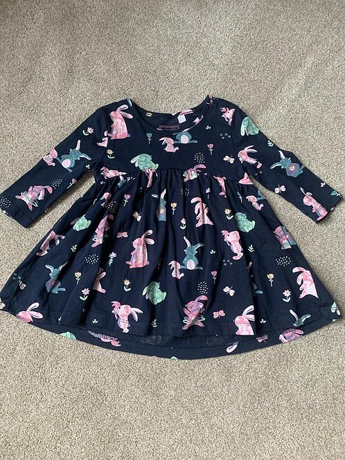 3-6m Bluezoo Rabbit Dress