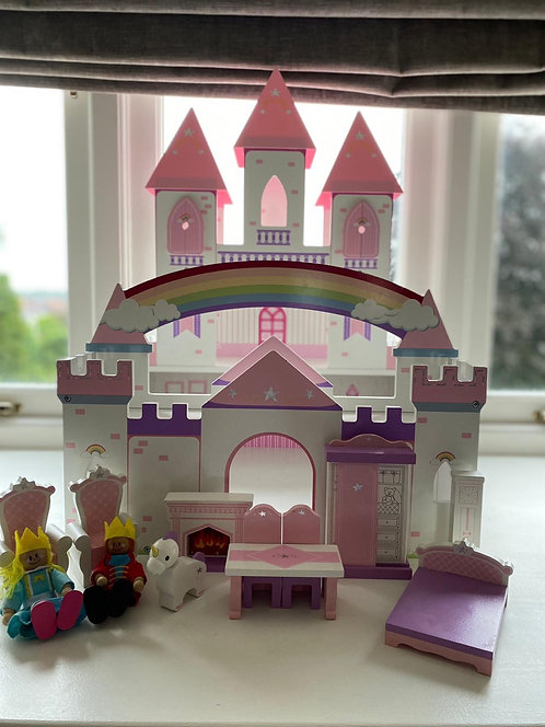 Wooden Princess Castle with Figured