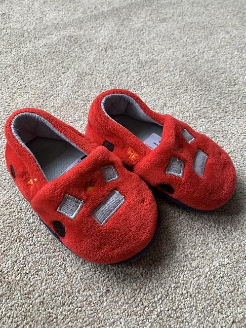 Size 4 Firetruck Slippers
