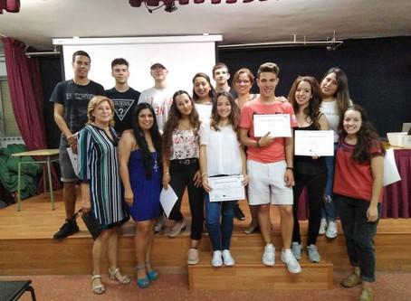 "Entrega de Diplomas ""EUROPA ACCIÓN SOCIAL EN LA FORMACIÓN PROFESIONAL"" - 2ª Ronda Mayo 2018"