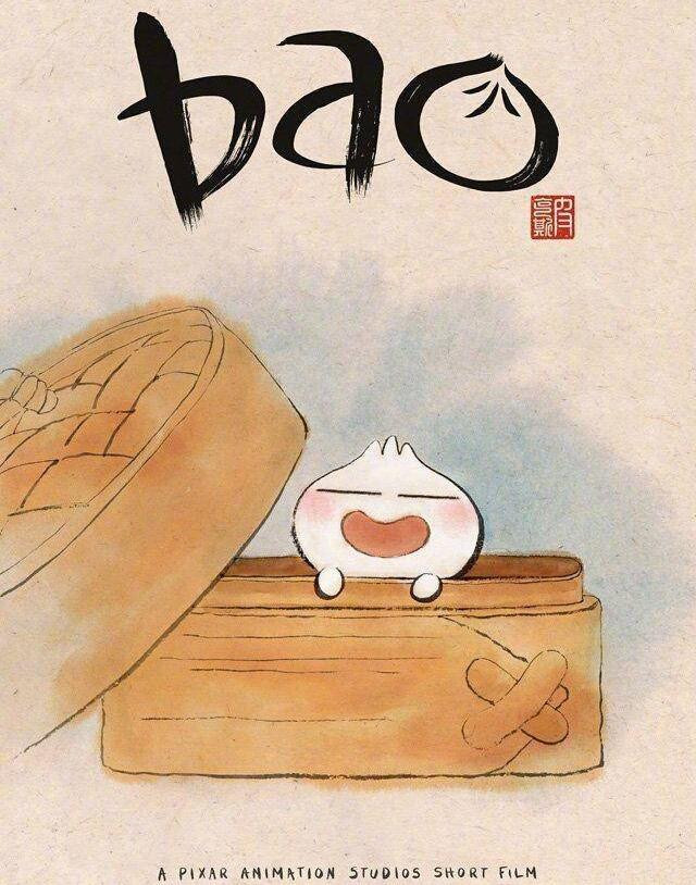 Cute Bao is leaning at the edge of a steaming pot.